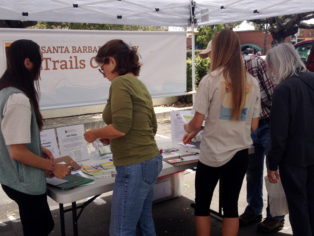Community Members Learning About Goleta Trails