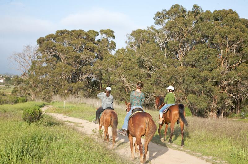 Equestrians on Ellwood Mesa